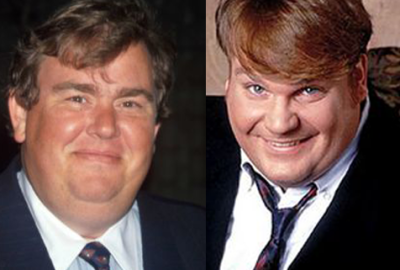 Legendary comedy stars John Candy and Chris Farley