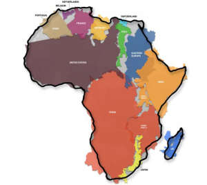 The real size of Africa. This episode also includes a discussion on depression.