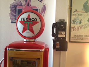 Texaco Gas Pump at the home of magician Dana Daniels