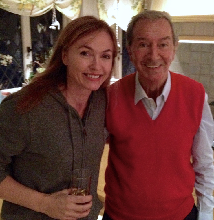 Natalie Gray and Des O'Connor at his home in Buckinghamshire, UK on The Gray Escape with Natalie Gray