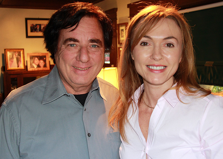 Roswell Writer / Producer Paul Davids with Natalie Gray in 2013 on The Gray Escape with Natalie Gray