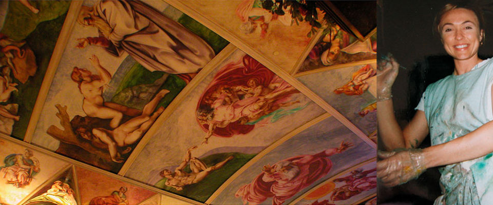 Sistine Chapel Reproduction by Natalie Gray | Near Death Experience on The Gray Escape podcast