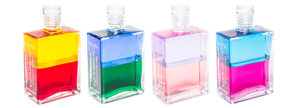 Equilibrium bottles of Aura-Soma