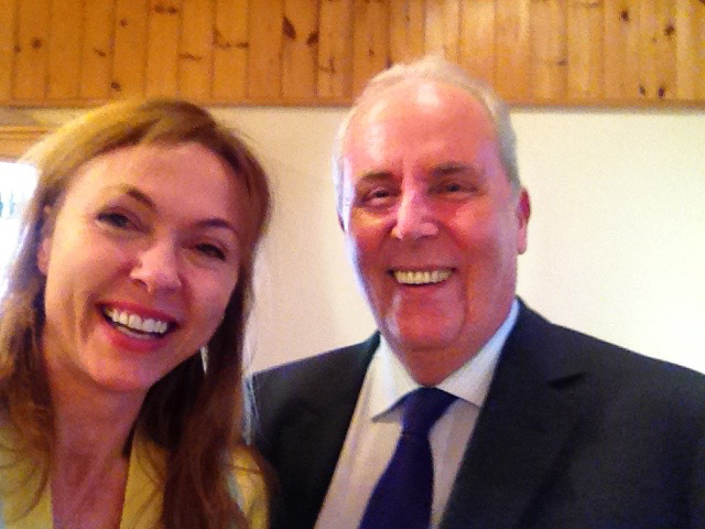 Natalie Gray with Aura-Soma Chairman Mike Booth