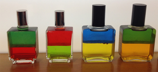 The very first Aura-Soma bottles created by Vicky Wall