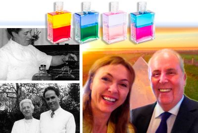 Natalie Gray with Aura-Soma Chairman Mike Booth on The Gray Escape with Natalie Gray