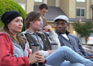 Natalie, Jason and Chris at an open mic in 2011. They talk about depression in this episode of The Gray Escape with Natalie Gray.