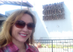 Natalie at the Upright Citizens Brigade comedy writing and improv Training Center in Hollywood | The Gray Escape with Natalie Gray