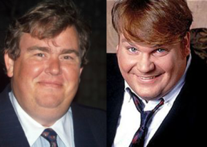 Comedy legends John Candy and Chris Farley