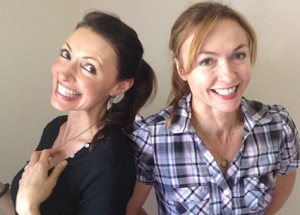 Cherise Bangs and Natalie Gray in the podcast episode Happiness in Hollywood | The Gray Escape with Natalie Gray