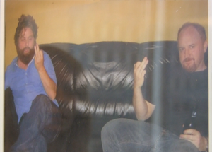 Personal photo of Zach Galifianakis and Louie CK in the office of Barry Katz