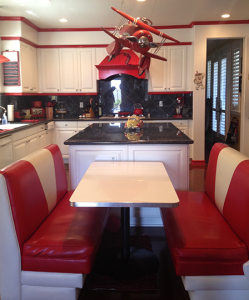 Ruby's Diner inspired kitchen at the home of magician Dana Daniels