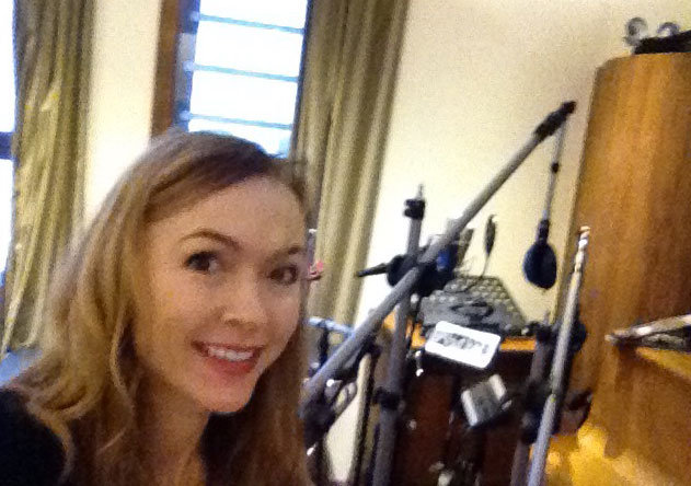 Natalie's selfie before chatting with Right Said Fred about conspiracy