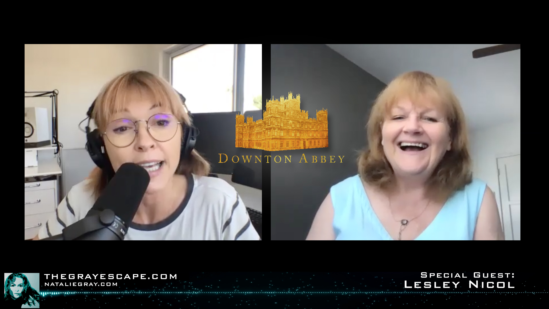 Natalie Gray and Lesley Nicol who plays Mrs Patmore on Downton Abbey